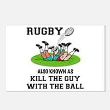 Rugby Kills Postcards (Package of 8)
