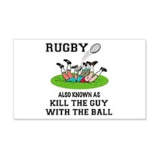 Rugby Kills Wall Decal