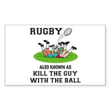 Rugby Kills Sticker (Rectangle)