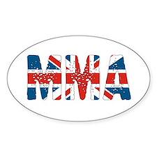 MMA UK Oval Decal