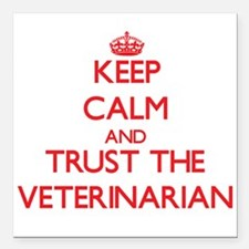 Keep Calm and Trust the Veterinarian Square Car Ma