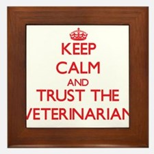 Keep Calm and Trust the Veterinarian Framed Tile