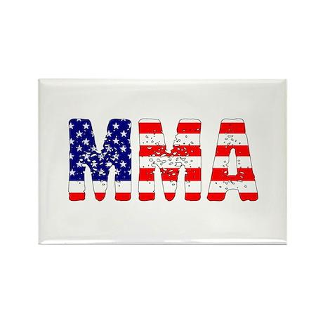 MMA USA Flag Rectangle Magnet