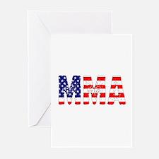 MMA USA Flag Greeting Cards (Pk of 10)