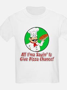 Give Pizza Chance Kids T-Shirt