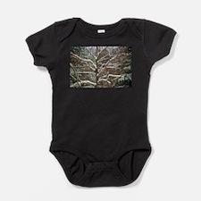Winter trees on snow 2 Baby Bodysuit