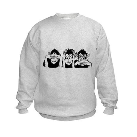 Chimp Feet Kids Sweatshirt