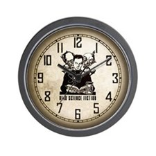 Read Science Fiction Vintage Retro Wall Clock