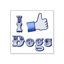 Thumbs Up, I Like Dogs Sticker