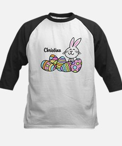 Personalized Bunny And Eggs Tee