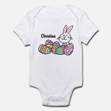 Personalized Bunny And Eggs Infant Bodysuit