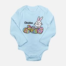 Personalized Bunny And Long Sleeve Infant Bodysuit