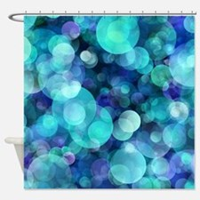 Cool Turquoise Shower Curtain