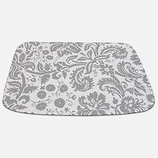 Grey Damask Bathmat