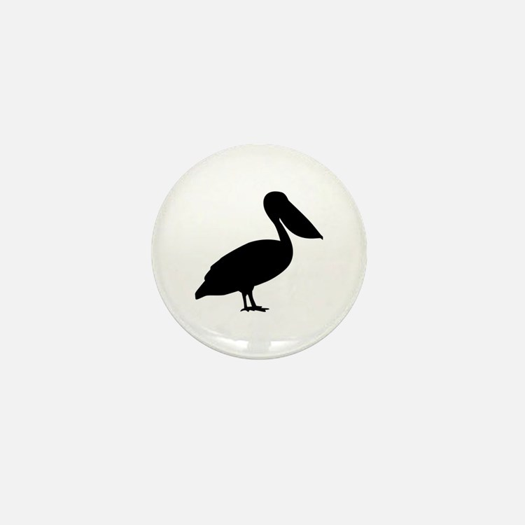 Pelican bird Mini Button