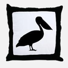 Pelican bird Throw Pillow