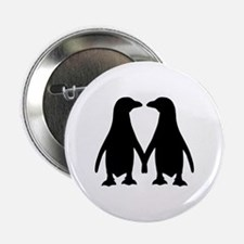 "Penguin couple love 2.25"" Button"