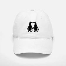Penguin couple love Baseball Baseball Cap