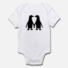Penguin couple love Infant Bodysuit