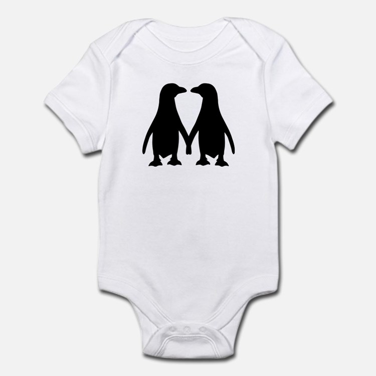 Penguin couple love Infant Bodysuit