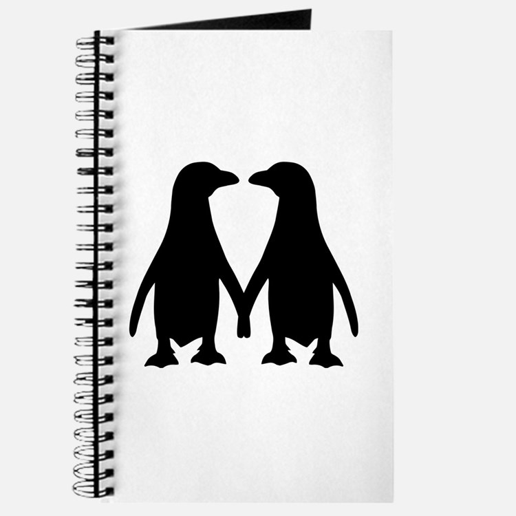 Penguin couple love Journal