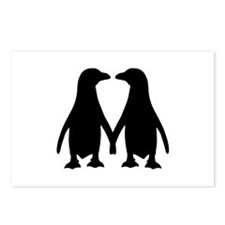 Penguin couple love Postcards (Package of 8)