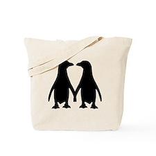 Penguin couple love Tote Bag