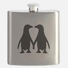 Penguin couple love Flask