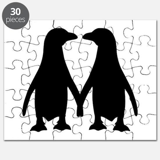 Penguin couple love Puzzle