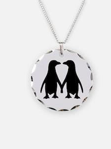 Penguin couple love Necklace