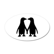 Penguin couple love Wall Decal