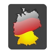 """Germany Bubble Map"" Mousepad"