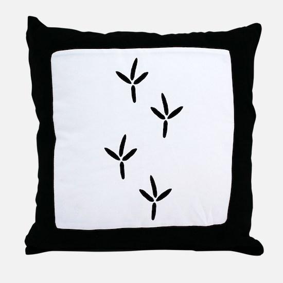 Birdwatching - Bird Footprints Throw Pillow