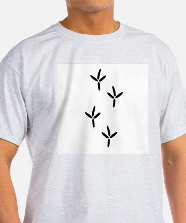 Birdwatching - Bird Footprints T-Shirt