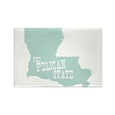 Louisiana Rectangle Magnet