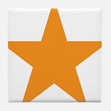 Orange Star Tile Coaster