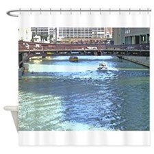 Downtown Chicago Waterscape Shower Curtain