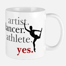 Artist. Dancer. Athlete. Yes. Mug