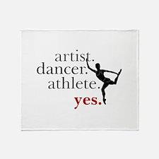 Artist. Dancer. Athlete. Yes. Throw Blanket