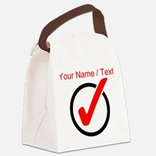 Custom Checkmark Canvas Lunch Bag
