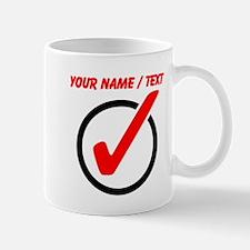 Custom Checkmark Mugs