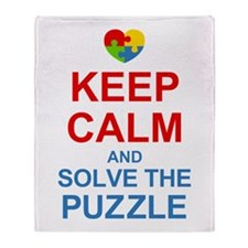 Keep Calm And Solve It Throw Blanket