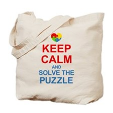 Keep Calm And Solve It Tote Bag