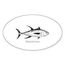 Yellowfin Tuna Logo (line art) Decal