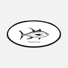 Yellowfin Tuna Logo (line art) Patches