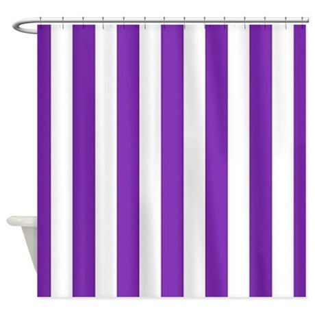 Classic Purple Shower Curtain By Stripstrapstripes