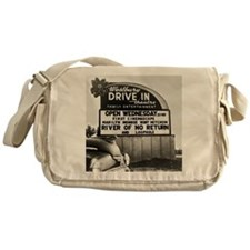 Drive-In Theater Marquee, 1954 Messenger Bag