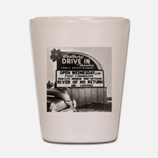Drive-In Theater Marquee, 1954 Shot Glass