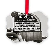 Drive-In Theater Marquee, 1954 Ornament