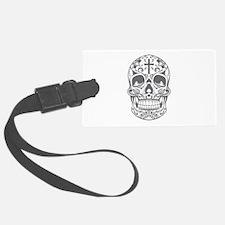SugarSkull Grey-01 Luggage Tag